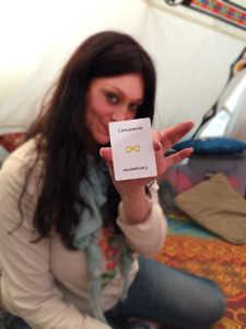 valerie holding competence card