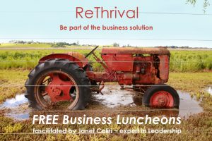 ReThrival Business Leadership Luncheon @ Sonoma County Healing Academy | Sebastopol | California | United States